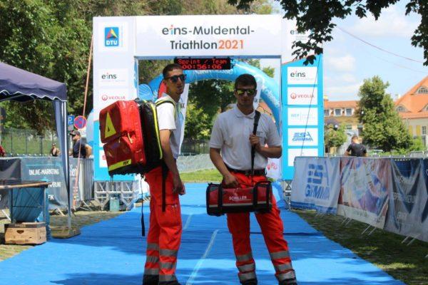 Sanitätsdienst des DRK Kreisverband Muldental sichert auch dieses Jahr den Muldental-Triathlon ab